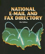 Cover of: National E-mail and Fax Directory (National E-Mail and Fax Directory) | Louise Gagne