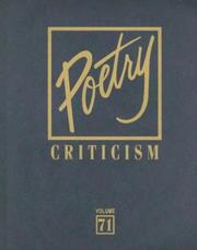 Cover of: Poetry Criticism | Michelle Lee