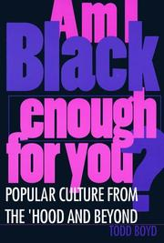 Cover of: Am I Black enough for you?