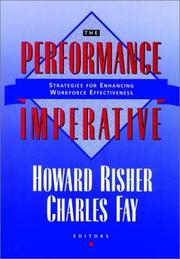 Cover of: The Performance Imperative | Howard Risher