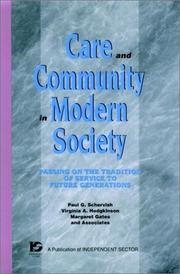 Cover of: Care and Community in Modern Society | Virginia A. Hodgkinson