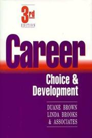 Cover of: Career choice and development |