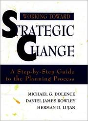 Cover of: Working toward strategic change