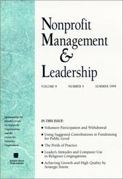 Cover of: Nonprofit Management & Leadership, No. 4, Fall 1999