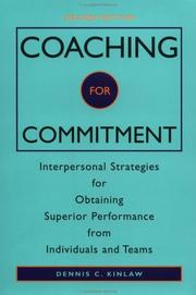 Cover of: Coaching for commitment | Dennis C. Kinlaw