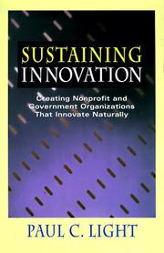 Cover of: Sustaining innovation | Paul Charles Light