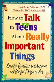 Cover of: How to talk to teens about really important things