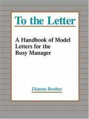 Cover of: To the letter