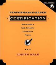 Cover of: Performance-based certification