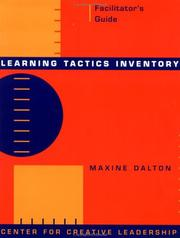 Cover of: Learning Tactics Inventory, includes sample copy of Participant