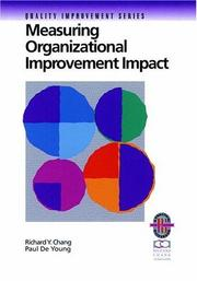 Cover of: Measuring Organizational Improvement Impact (Quality Improvement Series)