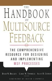 Cover of: The Handbook of Multisource Feedback (Jossey Bass Business and Management Series) |