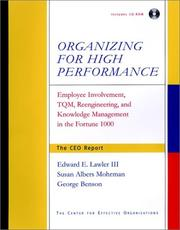 Cover of: Organizing for High Performance | Edward E., III Lawler