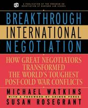 Cover of: Breakthrough International Negotiation | Michael Watkins
