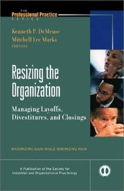 Cover of: Resizing the organization