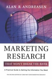 Cover of: Marketing Research That Won't Break the Bank