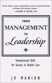 Cover of: From Management to Leadership | Jo Manion