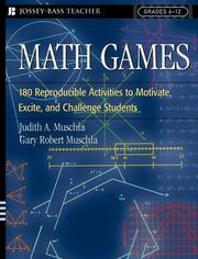 Cover of: Math Games | Judith A. Muschla
