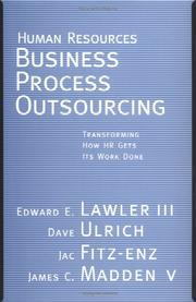 Cover of: Human Resources Business Process Outsourcing | Edward E.  Lawler