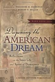 Cover of: Deepening the American dream | Mark Nepo