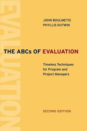 The ABCs of Evaluation by John Boulmetis, Phyllis Dutwin