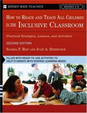 Cover of: How to reach and teach all children in the inclusive classroom