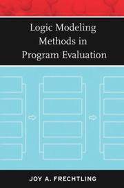 Cover of: Logic Modeling Methods in Program Evaluation