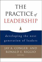 Cover of: The practice of leadership |