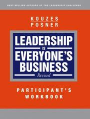 Cover of: Leadership is Everyone's Business, Participant Workbook