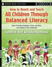 Cover of: How to reach and teach all children through balanced literacy