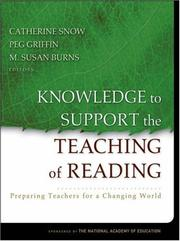 Cover of: Knowledge to Support the Teaching of Reading |