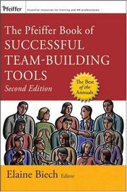 Cover of: The Pfeiffer Book of Successful Team-Building Tools | Elaine Biech