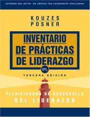 Cover of: The Leadership Practices Inventory (LPI): Leadership Development Planner (Spanish) (The Leadership Practices Inventory)