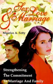 Cover of: Sex, love, and marriage