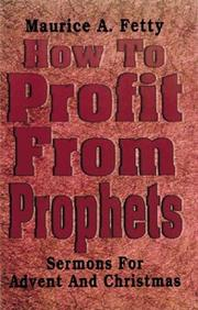 Cover of: How to profit from prophets