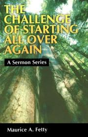 Cover of: The challenge of starting all over again