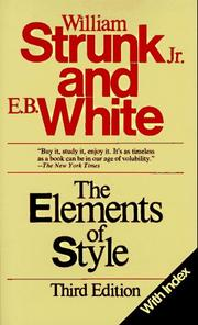 Cover of: The Elements of Style