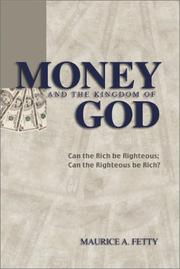Cover of: Money and the Kingdom of God