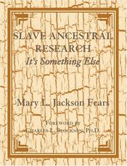 Cover of: Slave ancestral research