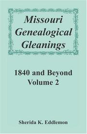 Cover of: Missouri Genealogical Gleanings