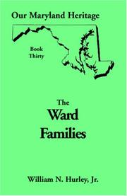 Cover of: Ward families of Maryland | W. N. Hurley