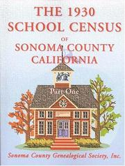 Cover of: The 1930 school census of Sonoma County, California |