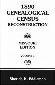 Cover of: 1890 genealogical census reconstruction, Missouri edition