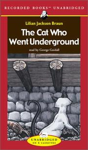 Cover of: The cat who went underground