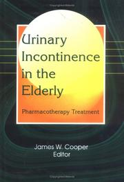 Cover of: Urinary Incontinence in the Elderly
