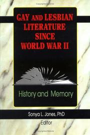 Cover of: Gay and Lesbian Literature Since World War II