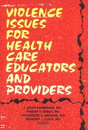 Cover of: Violence issues for health care educators and providers
