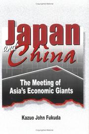 Cover of: Japan and China