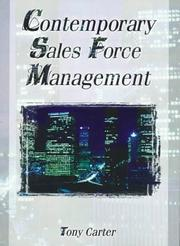 Cover of: Contemporary sales force management