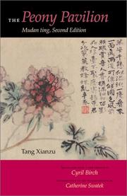 Cover of: The Peony Pavilion | Tang, Xianzu